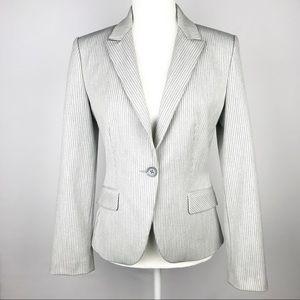 EXPRESS DESIGN STUDIO Gray Pinstripe Blazer Jacket